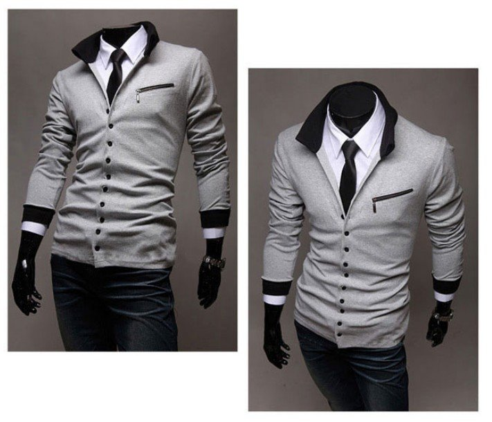 New-Men-s-Long-Sleeves-Slim-Fit-Cardigan-Style-Buttons-Knit-T-Shirt