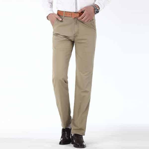 erkek dar kesim keten pantolon