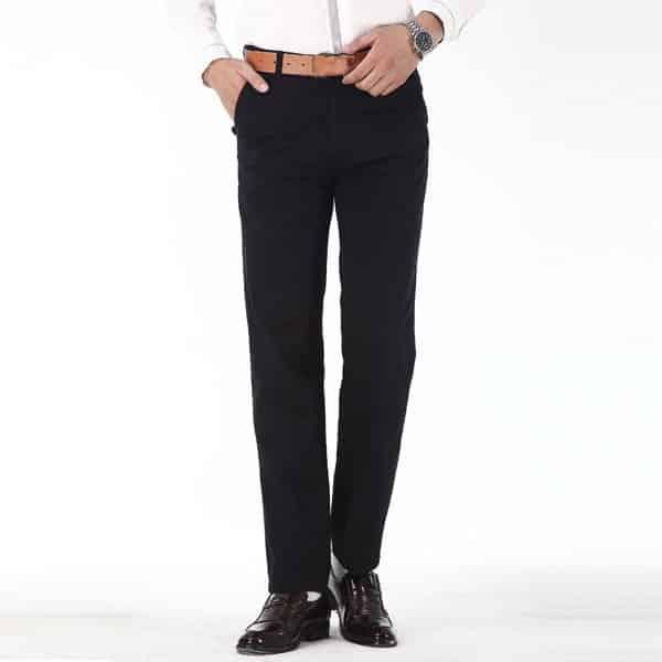 erkek dar kesim siyah pantolon